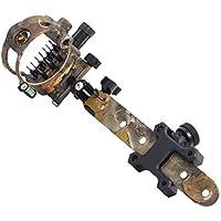 LYY Arco Compuesto Sight 7 Pin, Micro Ajustable Sight Bow con Retina De Bloqueo para Tiro con Arco Caza, DB9270 (Camuflaje)