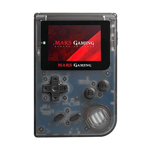 """MarsGaming MRB - Consola Retro Portátil (151 Juegos pre-instalados, LCD 2"""", microSD, emulador Principal GBA, secundario NES, SNES y GB), Negro"""