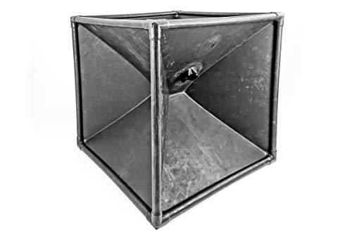 RUBBER SHOCK Latex Vakuum Cube Vakuum Zelt mit Aluminium-Rohren 100 cm x 100 cm x 100 cm - Bondage BDSM SM Rollenspiele Lack Leder Latex (SCHWARZ)