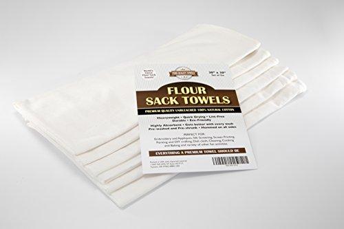 Pure Qualität Mehl Sack Handtücher-100% Premium Baumwolle, natur Reinigungstuch für die Küche-76,2x 76,2cm-Set von 6