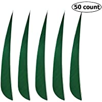 Milaem Arrow Fletches, 5 inch solid colour Feathers, 50 Feathers Per Package