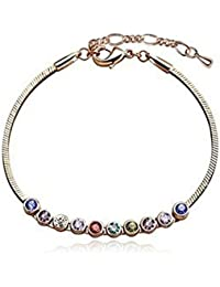 Lily Jewelry® Mujer    oro rosa de 18 quilates     cristal