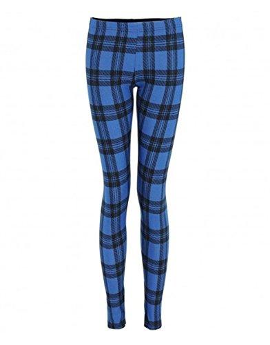 Nouveaux Femmes Grande Taille pleine longueur cheville imprimés stretch pantalon de guêtres collant long 40-54 Royal Tartan