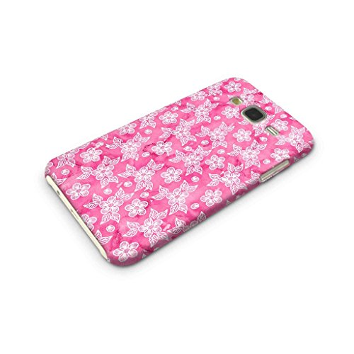 Cover Affair Floral/Flowers Printed Designer Slim Light Weight Back Cover Case for Samsung Galaxy J7 2015 Edition (Pink)