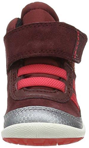 Ecco  ECCO BIOM LITE INFANTS BOOT, Baskets premiers pas bébé Rouge (Buffed Silver/ Bordeaux 59297)
