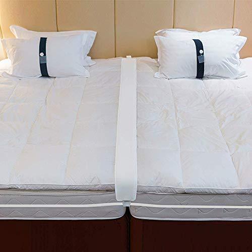 BANINA Bettbrücke Matratzen-Verbindungs-Konverter-Set zum Füllen von Lücken aus Memory-Schaum und Verbindungsgurt für Gäste- und Familienzimmer -