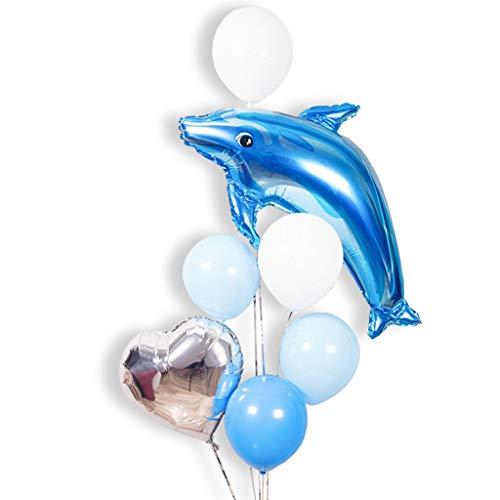 Tumao palloncino delfino -90cm palloncino blu delfino kit compleanno san valentino