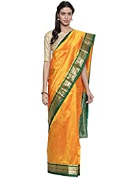 The Chennai Silks Silk with Blouse Piece Saree (CCMYSS8822_Yellow_Free Size)