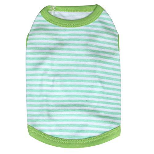 s Baumwolle Streifen t Shirt frühling/Summe einfach und Mode Haustier welpen Katze kostüme ()
