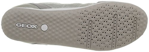 Geox - D Vega A, Sneaker Donna Bianco (Blanc (Off White/Lt Grey))