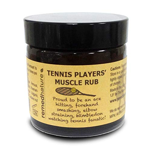 Remedinature Tennis Players' Muscle Rub 60ml, Natural Massage Balm, Ideal Gift for Tennis Lovers