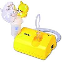 OMRON C-801KD - Inhalador para niños y bebé, design ligero y compacto, color amarillo