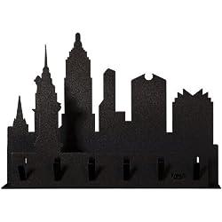 ARTI E MESTIERI Porta chiavi New York nero