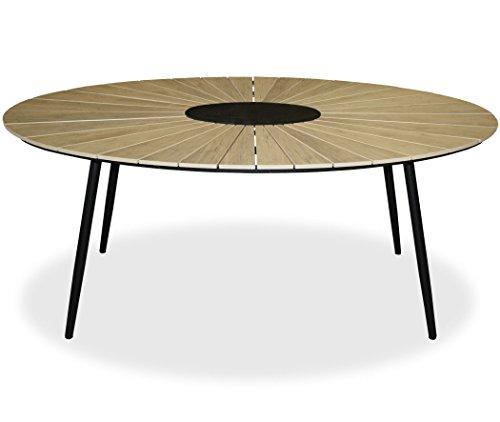KMH, Ovaler Holzimitat-Tisch/Gartentisch *Wolfsburg* 180 x 115 cm (#106162)