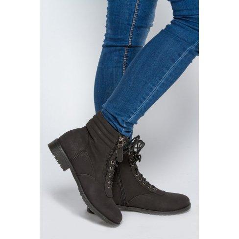 Princesse boutique - Rangers NOIR à lacets Noir