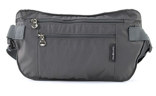 Samsonite Porte-monnaie Travel Accessor. V Double Pocket Money Belt 0.01 Liters Noir (Graphite) 45544