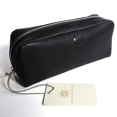 'Soleil - QUALITÉ cosmétique en cuir fasc Chine (avec logo) couleur : noir * Cuir véritable *