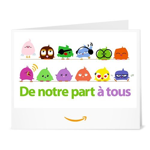 Chèque-cadeau Amazon.fr - Imprimer - De notre part à tous