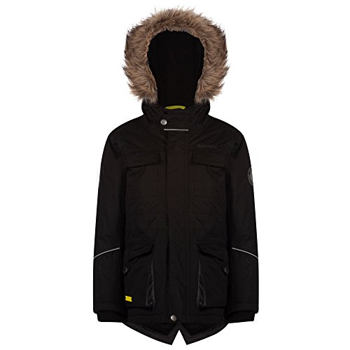 Regatta ragazzo capton Parka giacca impermeabile, Ragazzi, Capton Parka, Black, taglia 11 - 12