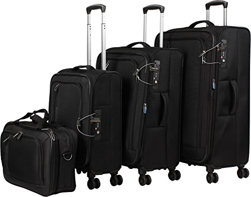 Travelite 'Crosslite' 4 pcs Koffer-Set, 77 cm, 102 liters, Schwarz, 89540-01