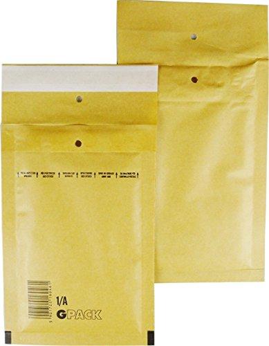 25 braune Luftpolsterumschläge Luftpolstertaschen Versandtaschen 1/A 120x175 mm