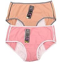 Women's Menstrual Period Protection Leak Proof Control Brief 3 (100% Cotone Tamponi)