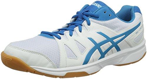 ASICS Gel-Upcourt, Scarpe da Badminton Uomo, Multicolore Blue Jewel/White, 44 EU