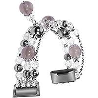 Cooljun pour Fitbit Charge 3,Bracelet en métal de Remplacement de Bijoux