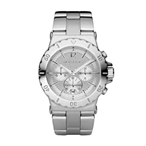 Michael Kors Fashion Women's Quartz Watch with Silver Dial Chronograph Display and Silver Stainless Steel Strap MK5312