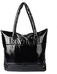 FEITONG Impresión de las mujeres bolso de cuero bolsa de hombro Bolso Mensajero (I)