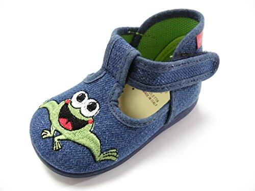 DIAMANTINO Shoe Slipper Canvas First Steps Frog Male Jeans