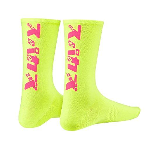 Supacaz Socken Katakana - Neon Gelb und Neon Pink - L/XL