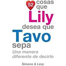 52 Cosas Que Lily Desea Que Tavo Sepa: Una Manera Diferente de Decirlo