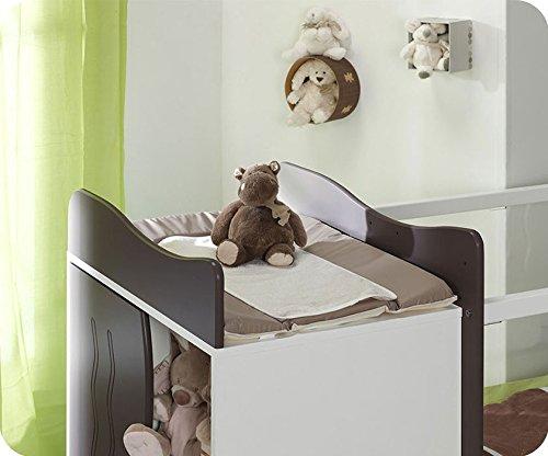 Mitwachsendes Babybett Jooly weiß taupe - 2