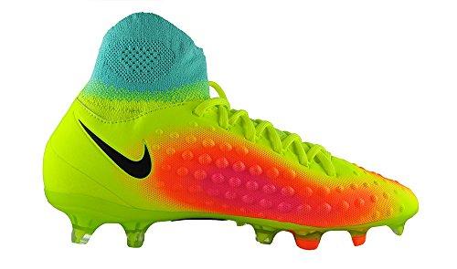 Nike Unisex-Erwachsene Jr Magista Obra Ii Fg Fußballschuhe Amarillo (Volt / Black-Total Orange-Pink Blast)