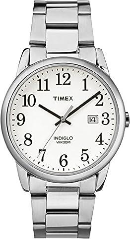 Timex - TW2R23300 - Montre - Quartz -Affichage - Analogique - Bracelet - Acier Inoxydable - Argent - Cadran - Blanc - Hommes