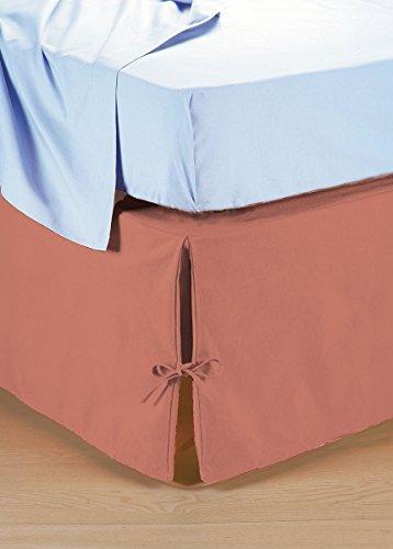 Vestiletto coprirete per letto matrimoniale in tinta unita - Coprirete letto ...