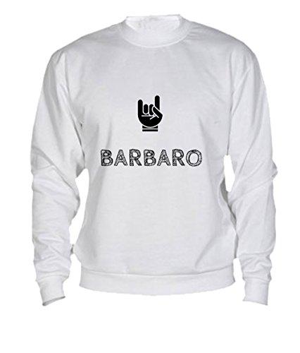 Felpa Barbaro - Print Your Name White
