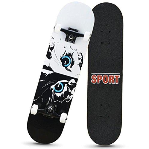 ZERO FAN Skateboard, Skate Board, Skateboards-Stoßfestigkeit Solid Plate Durable Geburtstag Chrismas Geschenk Kids Boys Girls Professional Amateur