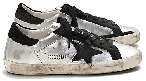 Golden Goose GGDB - Scarpe da Ginnastica da Donna, Stile Casual, in Pelle, Nero (Black Star), 39.5 EU