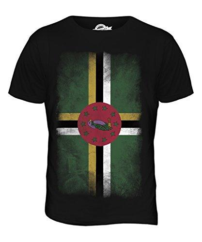 CandyMix Dominica Verblichen Flagge Herren T Shirt Schwarz