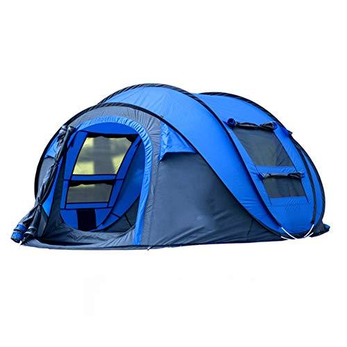 LLVV Wurfzelt Im Freien Automatische Zelte Werfen Pop Up Wasserdicht Camping Wandern Zelt Wasserdicht Große Familienzelte,Blue