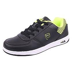 Fila Men Black Lemon Green Synthetic Lifestyle Shoes