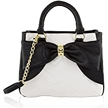 Betsey Johnson Multi Compartment WIth Pouch Dome Satchel Shoulder Bag - Cream