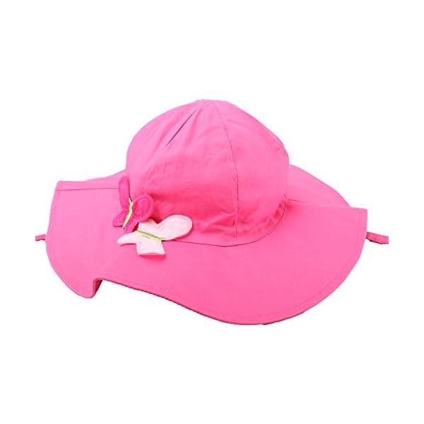 Snyemio Sombrero de Sol Niña Bebé Algodón Solar Gorro con Barbijo Verano Anti UV para Viaje Playa Piscina 3
