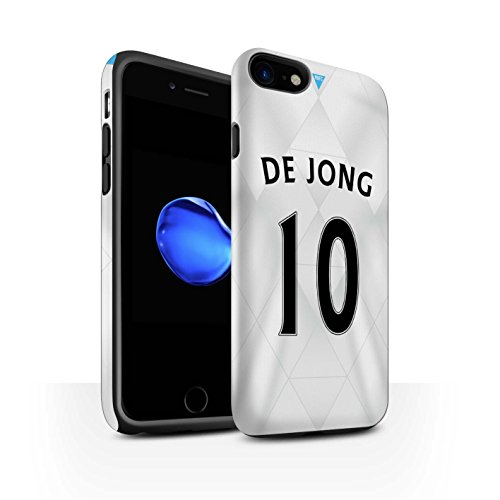 Officiel Newcastle United FC Coque / Matte Robuste Antichoc Etui pour Apple iPhone 7 / Saivet Design / NUFC Maillot Extérieur 15/16 Collection De Jong