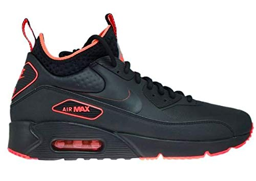 Nike Herren Air Max 90 Ultra Mid Winter SE Schwarz Leder/Synthetik Sneaker 42.5 Ultra Mid Boot