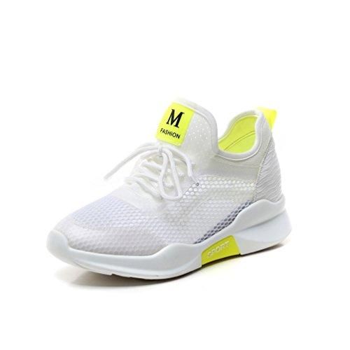 Chaussure de Sport en Plein Air pour Femme Chaussure en Toile Respirante Légère Augmente Talon Compensée Casual Souple