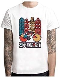075ff9bceb962 MXM Amsterdam t-Shirt Men New Men T Shirt Casual Short Sleeve o-Neck