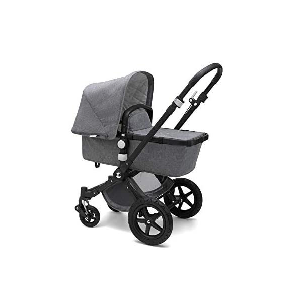 Bugaboo Cameleon³ Plus Classic+ Pushchair - Black + Grey Melange Bugaboo Foam filled rubber tyres Mattress with aerated inlay One hand release carrycot 2